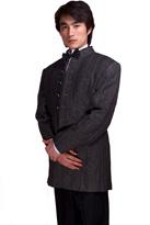 中式男礼服灰色