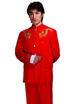 红金龙独唱服主持服装