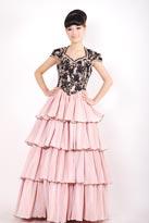 塔裙款小半袖晚礼服