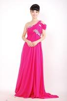 万紫千红拖尾款晚礼服