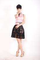 粉色青春小礼服