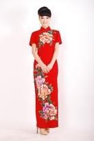 花枝招展中式旗袍