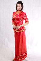 红色中式唐装