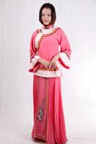 粉色中式唐装