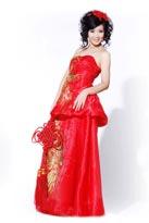 中国结绣凤晚礼服1
