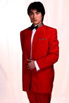红大气款男士礼服