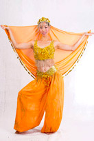 橙波斯 印度服装
