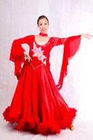 红叶似火国标舞裙