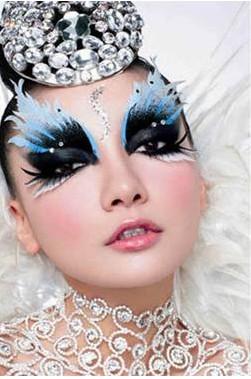教您舞台妆的眼影画法