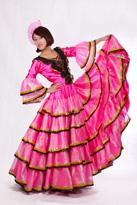 粉色西班牙舞蹈服装