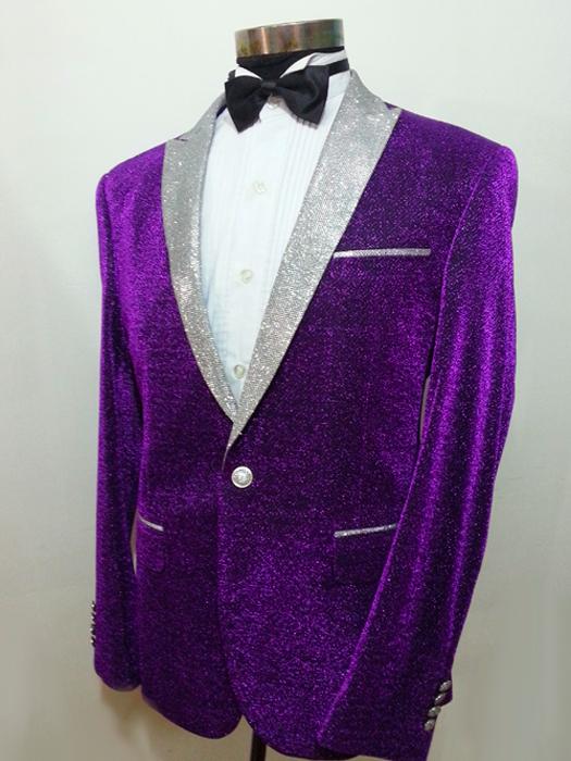 新款紫色男礼服