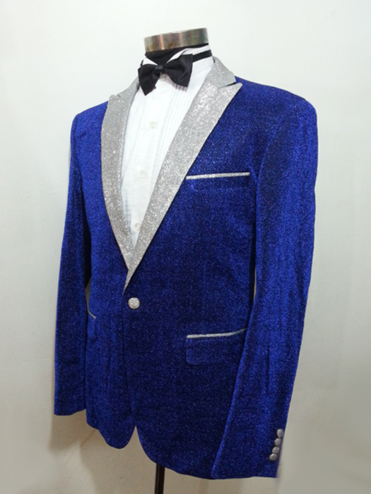新款男士蓝色礼服