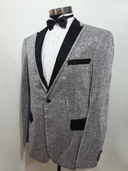新款男士银色礼服