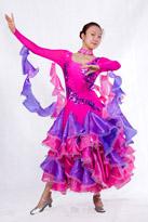 紫粉色国标舞裙