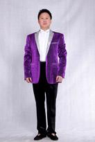 男款紫色礼服
