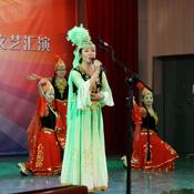 热情的新疆歌舞表演