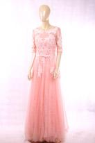 粉色半袖礼服