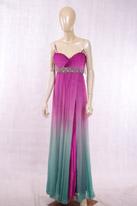 紫色过渡色晚礼服